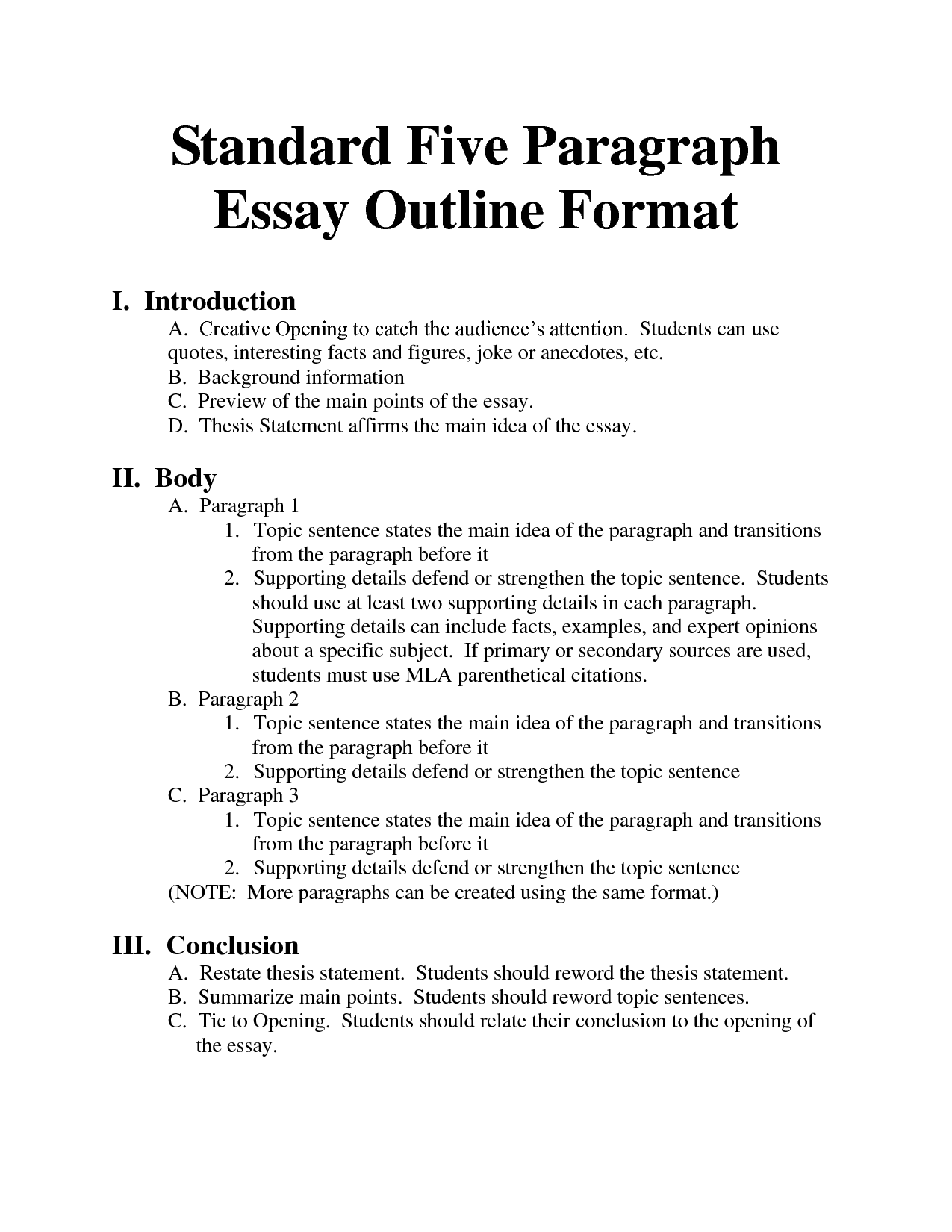 How to Make an Essay Outline: Content Plan