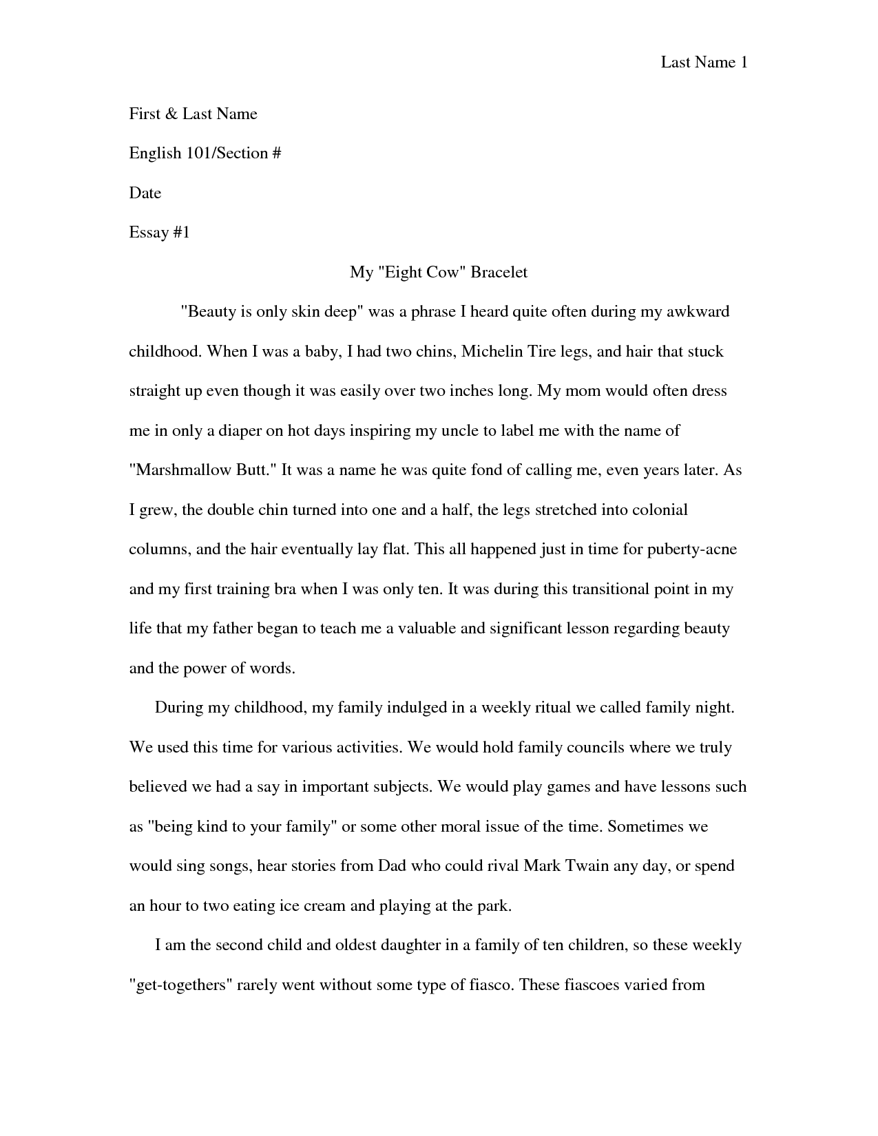 narrative essay the worst experience of my life
